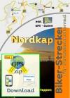 Nordkap Motorradtour GPS Daten